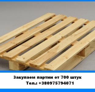Купим оптовые партии поддонов (от 700 штук). Закупаемновые деревянные европоддоны