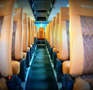 Обшивка перетяжка салона Neoplan Setra, перетяжка сидений автобуса неоплан