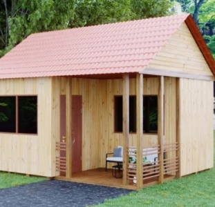 Дачный домик (модель hb-dd-md4). Модульные конструкции. HBuilder
