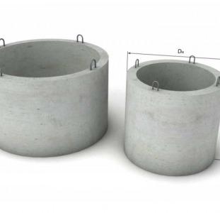 Кольца бетонные. Опорные кольца. Бетонные крышки. Днища колец.