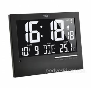 Cовременные  цифровые настенные часы  от компании TFA для дома или для офиса. Стильный дизайн часов