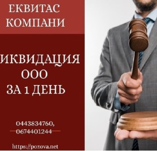 Ліквідація ТОВ за 1 день в Києві. Послуги по експрес-ліквідації підприємств.