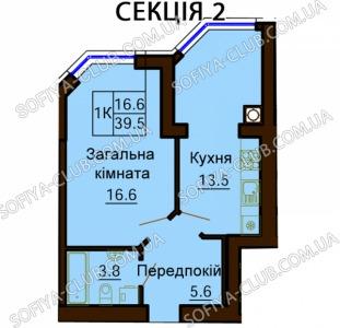 1-комнатная квартира в ЖК София в официальном отделе продаж