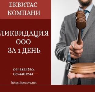 Ліквідувати ТОВ за 1 день в Києві. Ліквідація підприємств Київ.