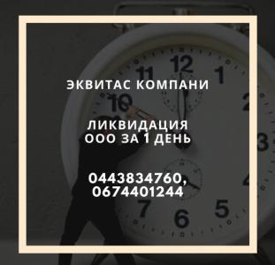Ликвидация фирмы за 1 день в Харькове