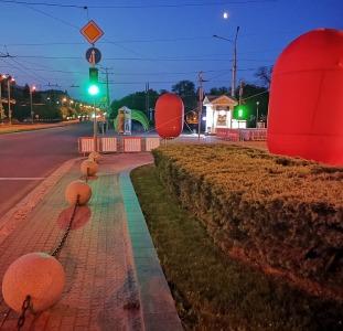 Надувные сферические шары для рекламы