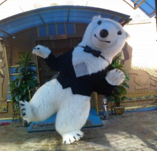 White Bear Costume Inflatable Пневмокостюм белого медведя