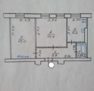 Продам  СВОЮ   2-х комнатную квартиру  на Одесской