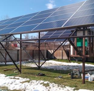 Домашняя сетевая солнечная электростанция мощностью 30 кВт