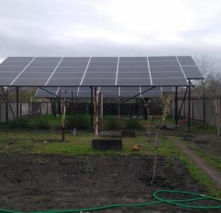 Домашняя сетевая солнечная электростанция мощностью 20 кВт