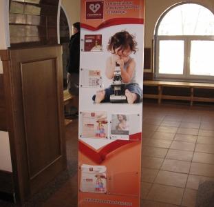 Размещение полиграфии на стойках в 43 женских консультациях в поликлиниках Киева
