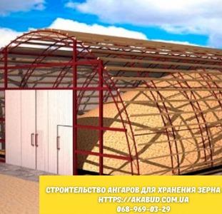 Услуги для бизнеса Строительство ангаров для хранения зерна ЛСТК