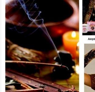 Восковые свечи и различные благовония, товары для йоги, индийские специи
