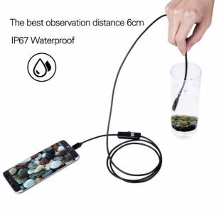 Цифровой USB эндоскоп  - Гибкий USB эндоскоп с длинной кабеля 2 метра и диаметром камеры 7 мм