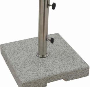 Подставка для зонтов, гранитная 25 кг 38х38х6,5 см металик-серый