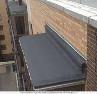 Ремонт балконных козырьков. Кровельные работы