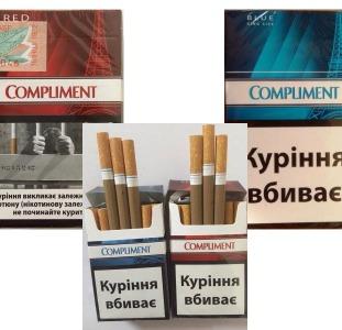 Сигареты оптом Compliment Red, Blue Украинский акциз