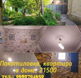 Продам квартиру в частном доме, в центре Покотиловки