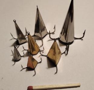 """Блесна """"Конус"""" ручной работы для ловли хищника: окуня, щуки, судака и т.д."""