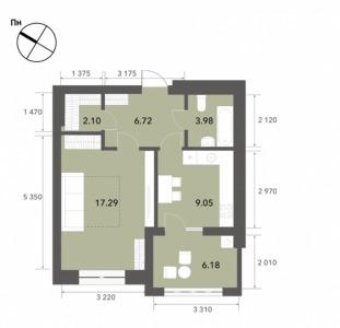 Продажа однокомнатной квартиры в ЖК Софиевские Липки