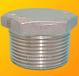 Заглушка резьбовая нержавеющая Ду 15 (1/2) AISI 304