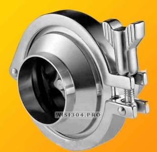 Клапан обратный нержавеющий приварной DIN Dn 50 AISI 304