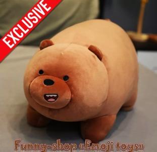 Мягкая плюшевая игрушка Бурый медвежонок очаровательный подарок на любой праздник