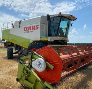 Сельхоз. техника Комбайн Claas Lexion 480  2002 г.в  нараб.2800/1700 м.ч