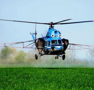 Услуги вертолета - внесение фунгицидов
