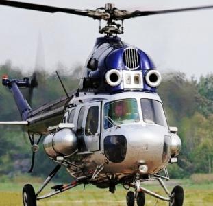 Авиа обработка кукурузы от вредителей вертолетом Ми-2