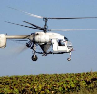 Десикация кукурузы подсолнечника вертолетом - десикація дельтопланом гвинтокрилом