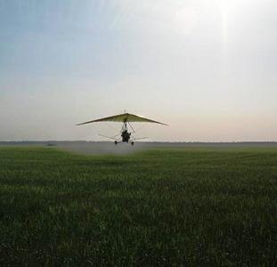 Гербицидная обработка пшеницы мотодельтапланом